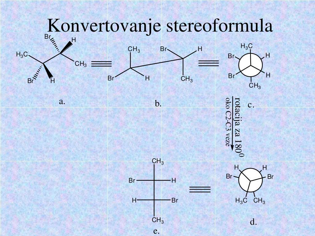 Konvertovanje stereoformula