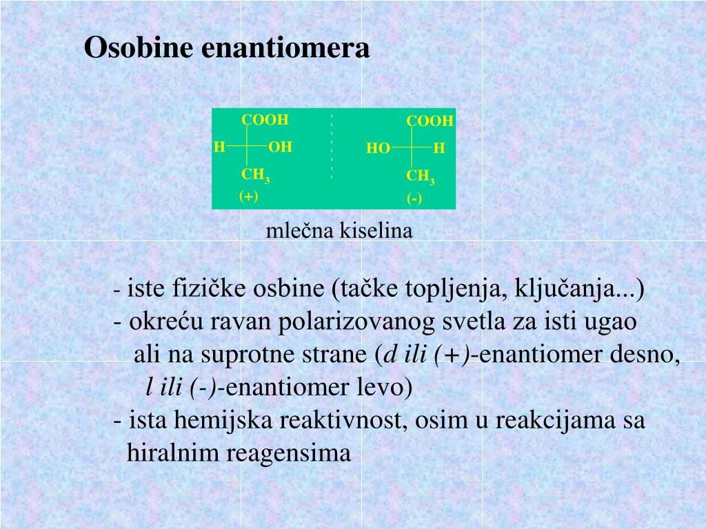 Osobine enantiomera