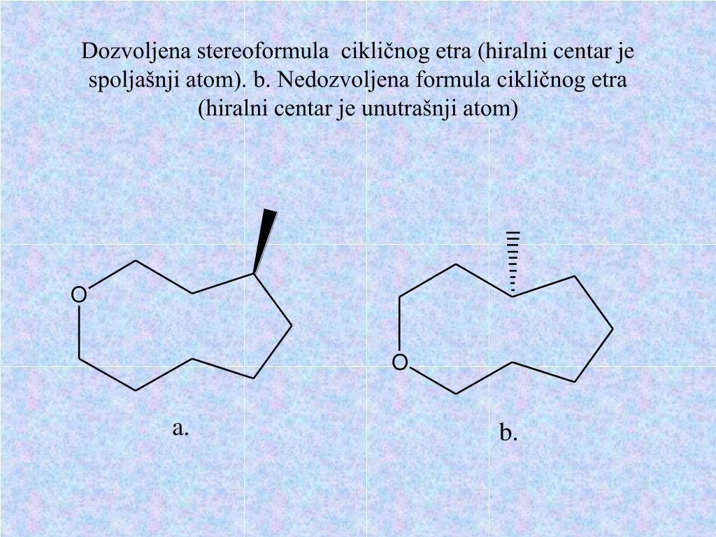 Dozvoljena stereoformula  cikličnog etra