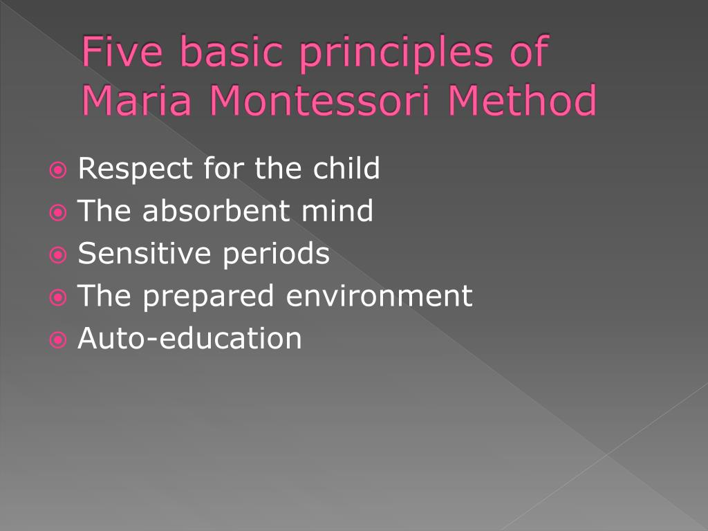 maria montessori presentation