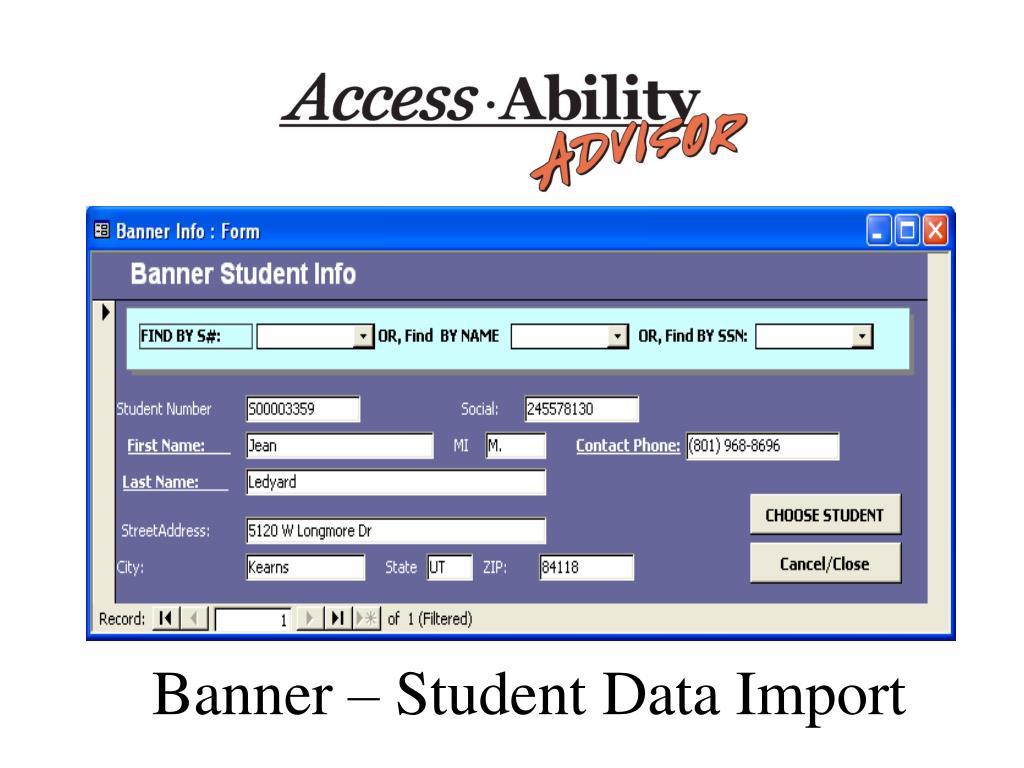 Banner – Student Data Import