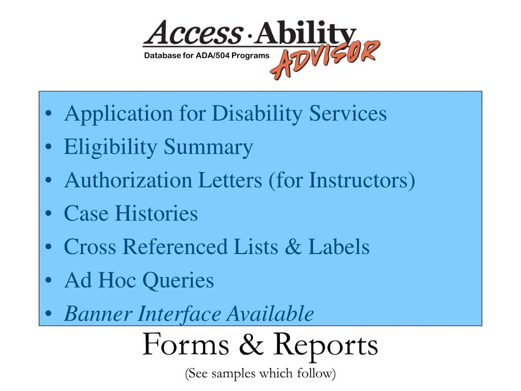 Forms & Reports