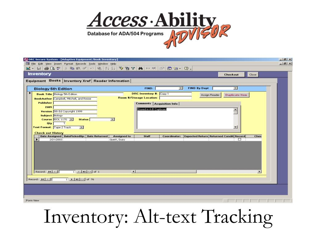 Inventory: