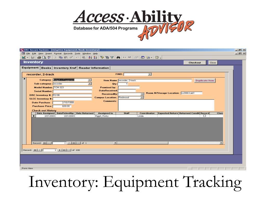 Inventory: Equipment