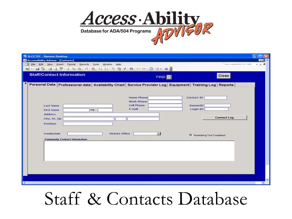 Staff & Contacts Database
