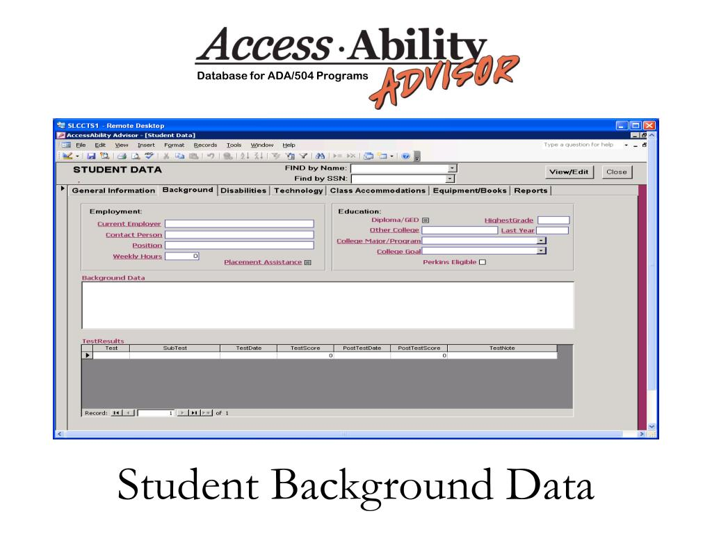 Student Background Data