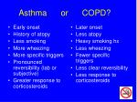 asthma or copd