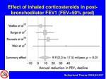 effect of inhaled corticosteroids in post bronchodilator fev1 fev 50 pred