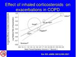 effect of inhaled corticosteroids on exacerbations in copd
