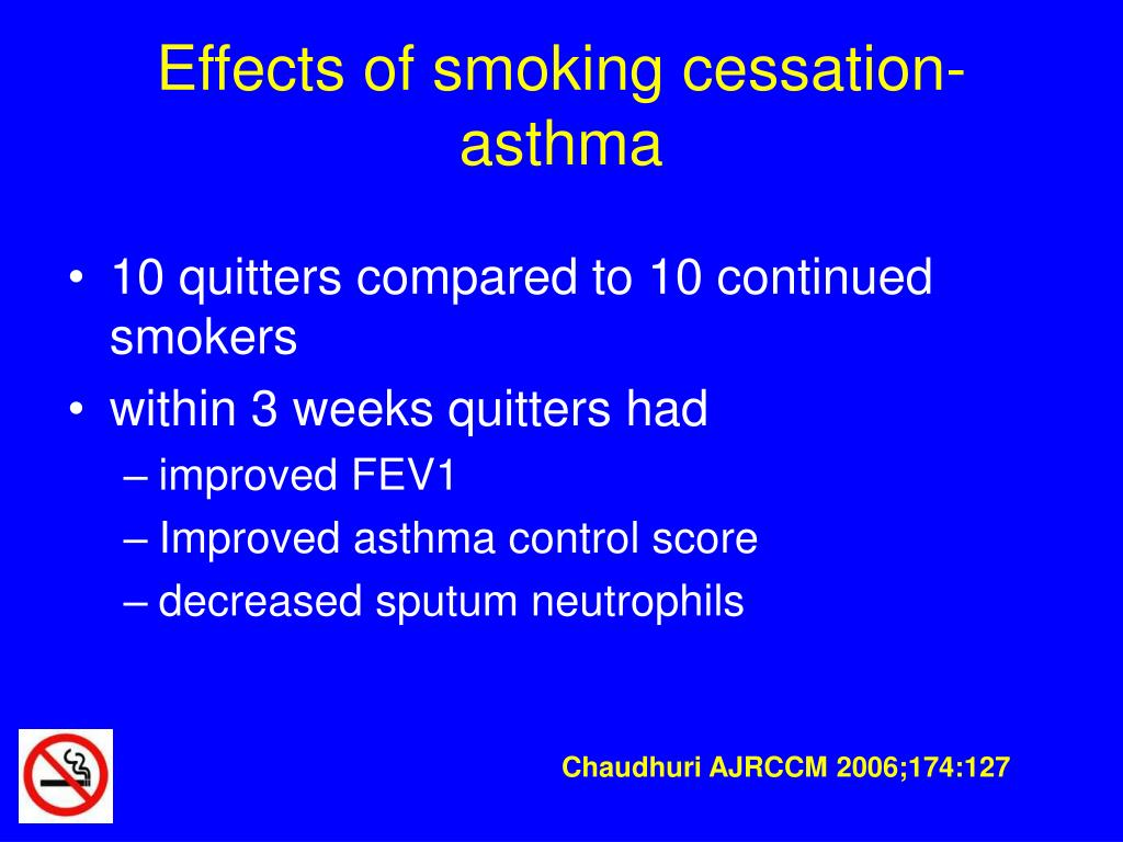 Effects of smoking cessation-asthma