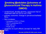 s moking m odulates o utcomes of g lucocorticoid therapy in asthma smog
