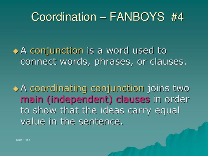 Coordination fanboys 42