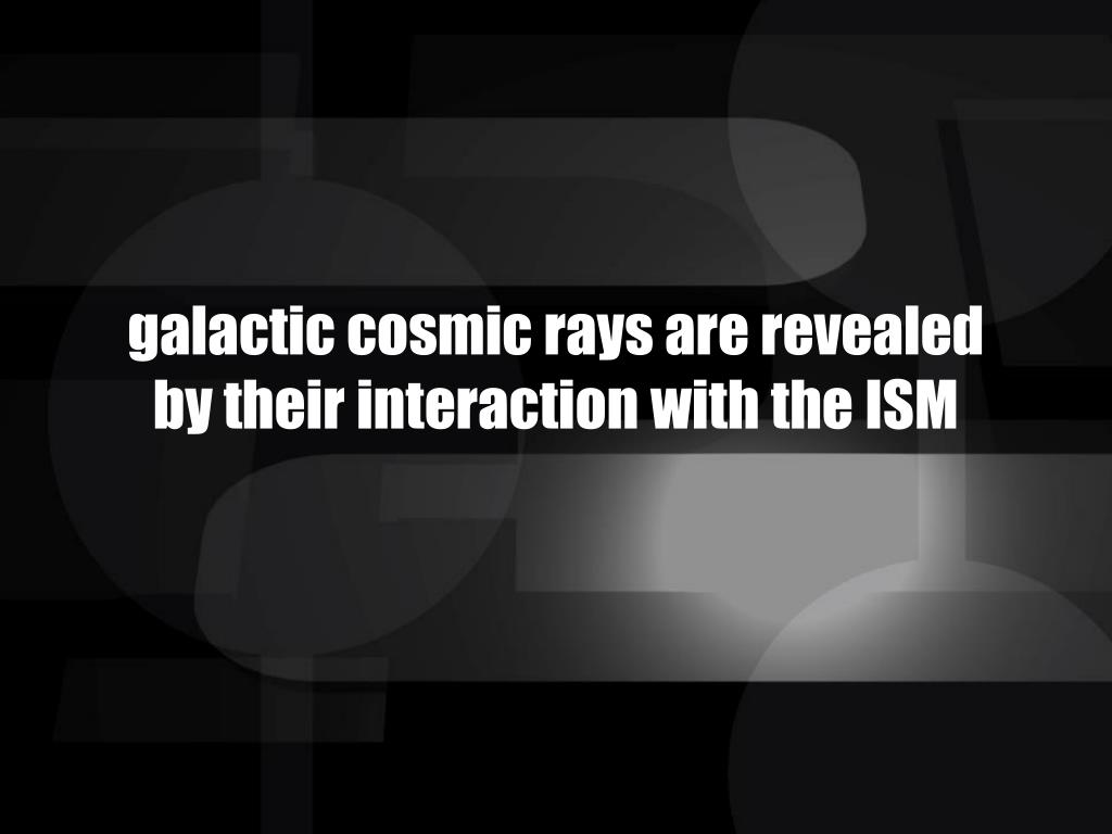 galactic cosmic rays are revealed
