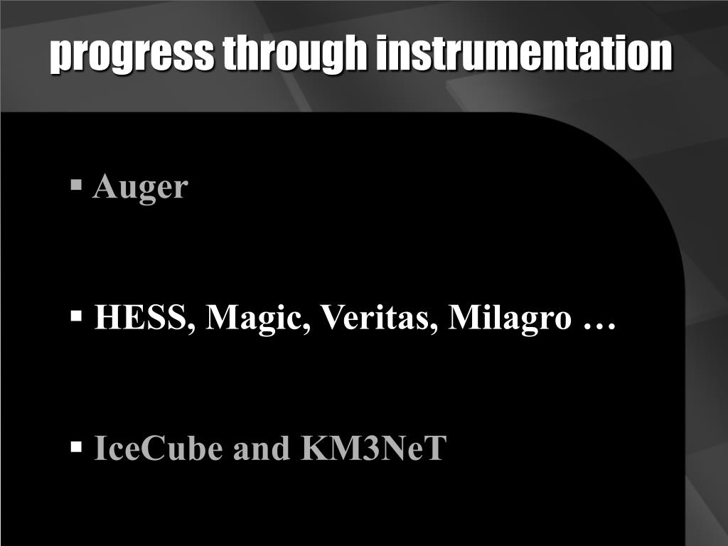 progress through instrumentation