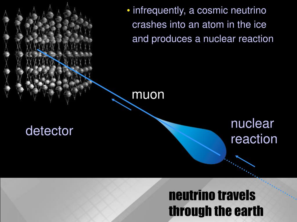 infrequently, a cosmic neutrino