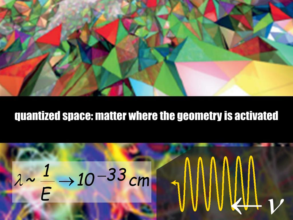 quantized space: matter where the geometry is activated