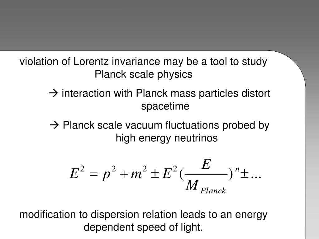 violation of Lorentz invariance may be a tool to study Planck scale physics