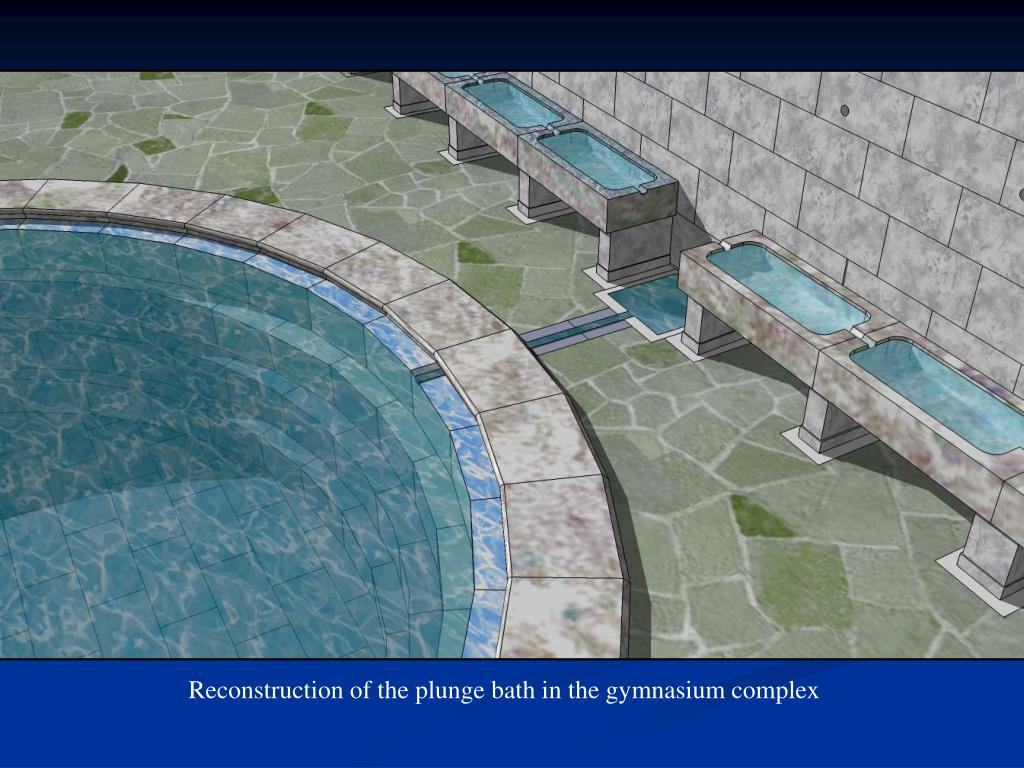 Reconstruction of the plunge bath in the gymnasium complex