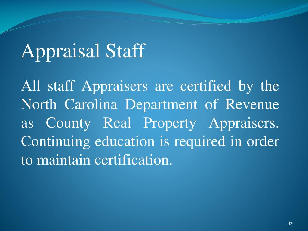 Appraisal Staff