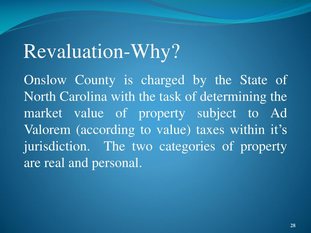 Revaluation-Why?