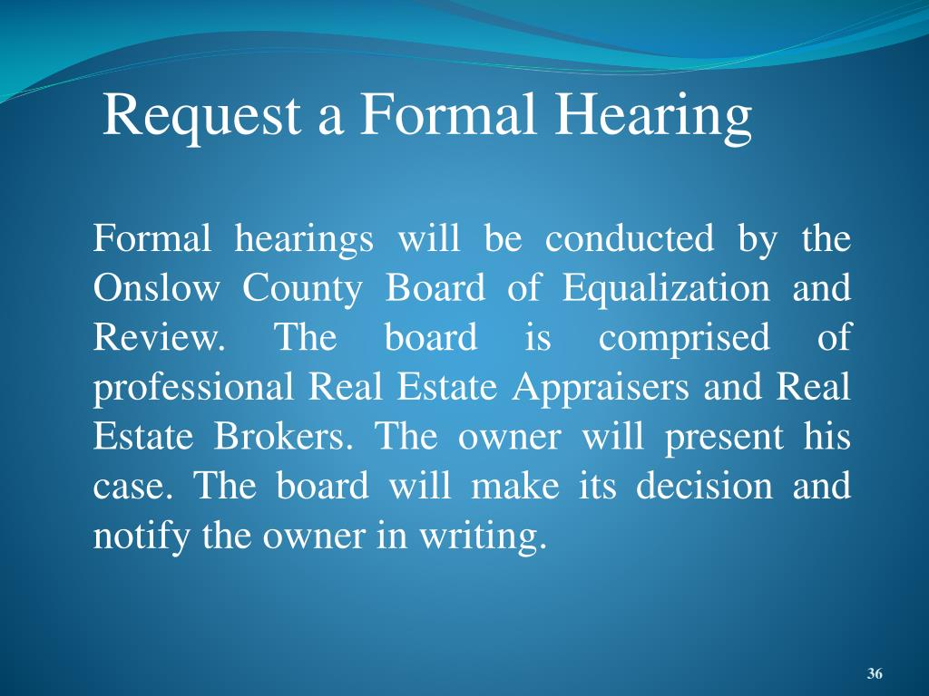 Request a Formal Hearing