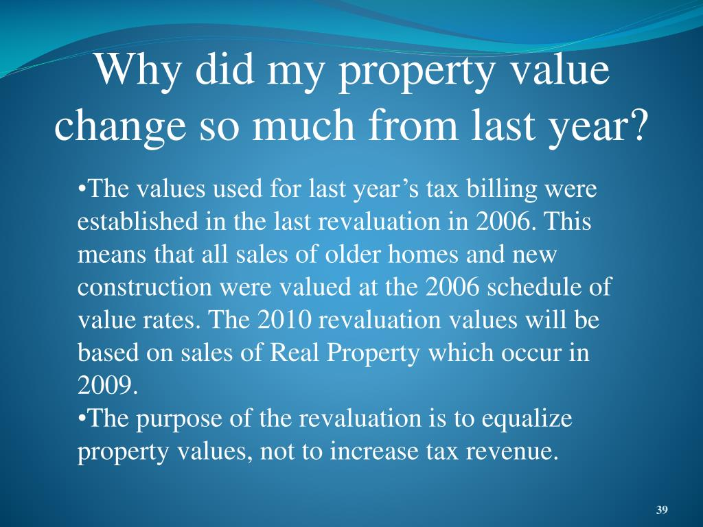 Why did my property value change so much from last year?