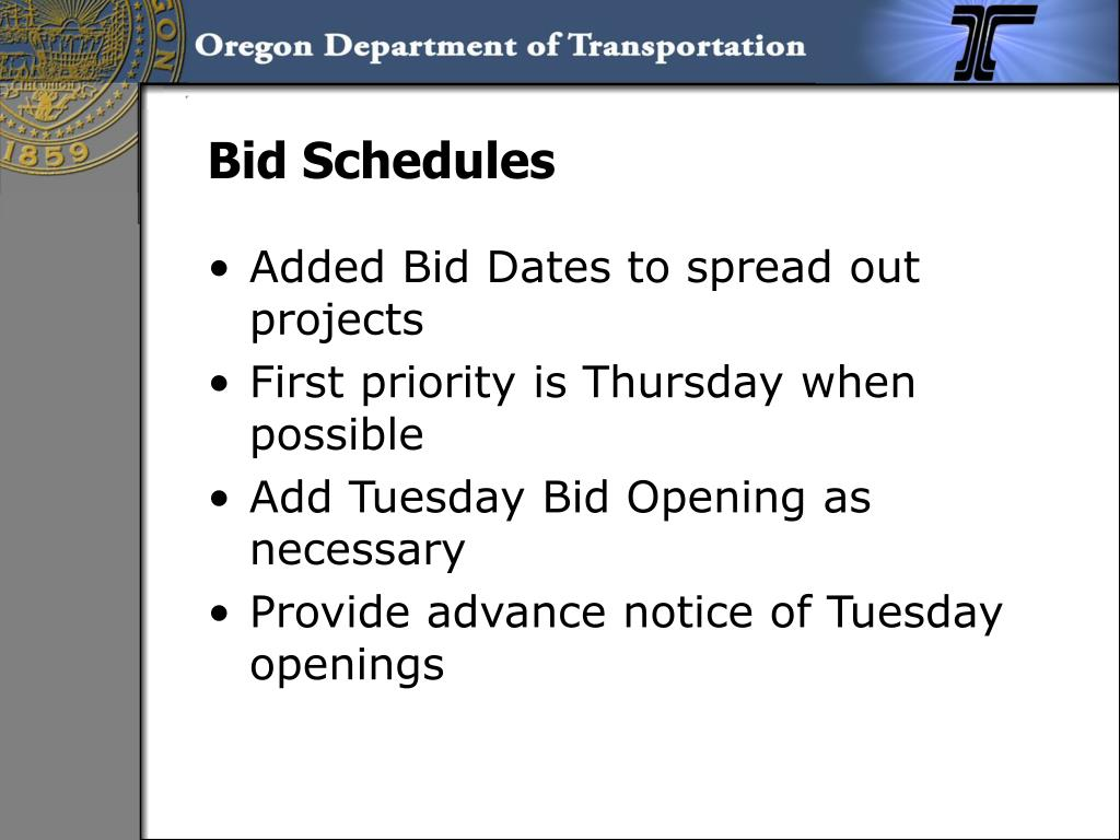 Bid Schedules