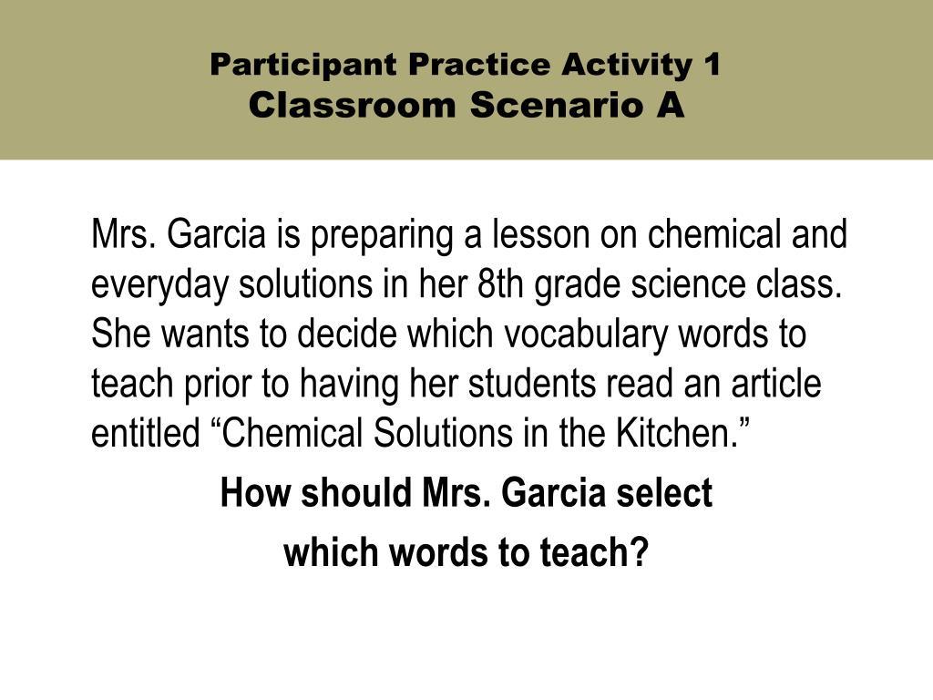 Participant Practice Activity 1