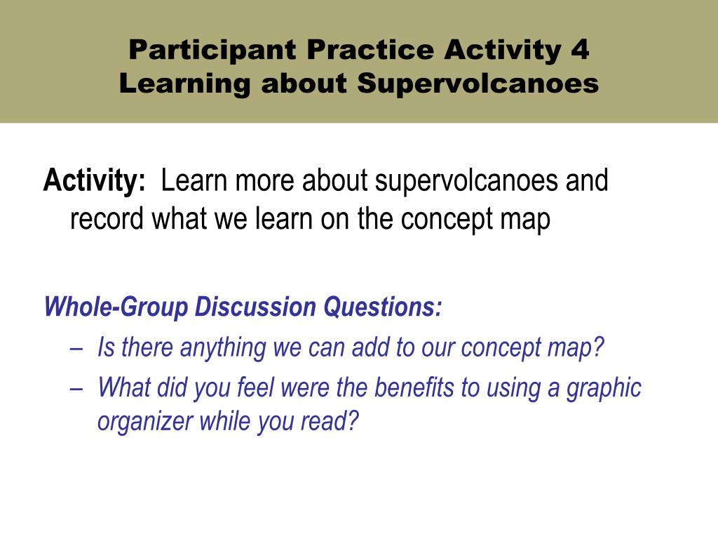 Participant Practice Activity 4