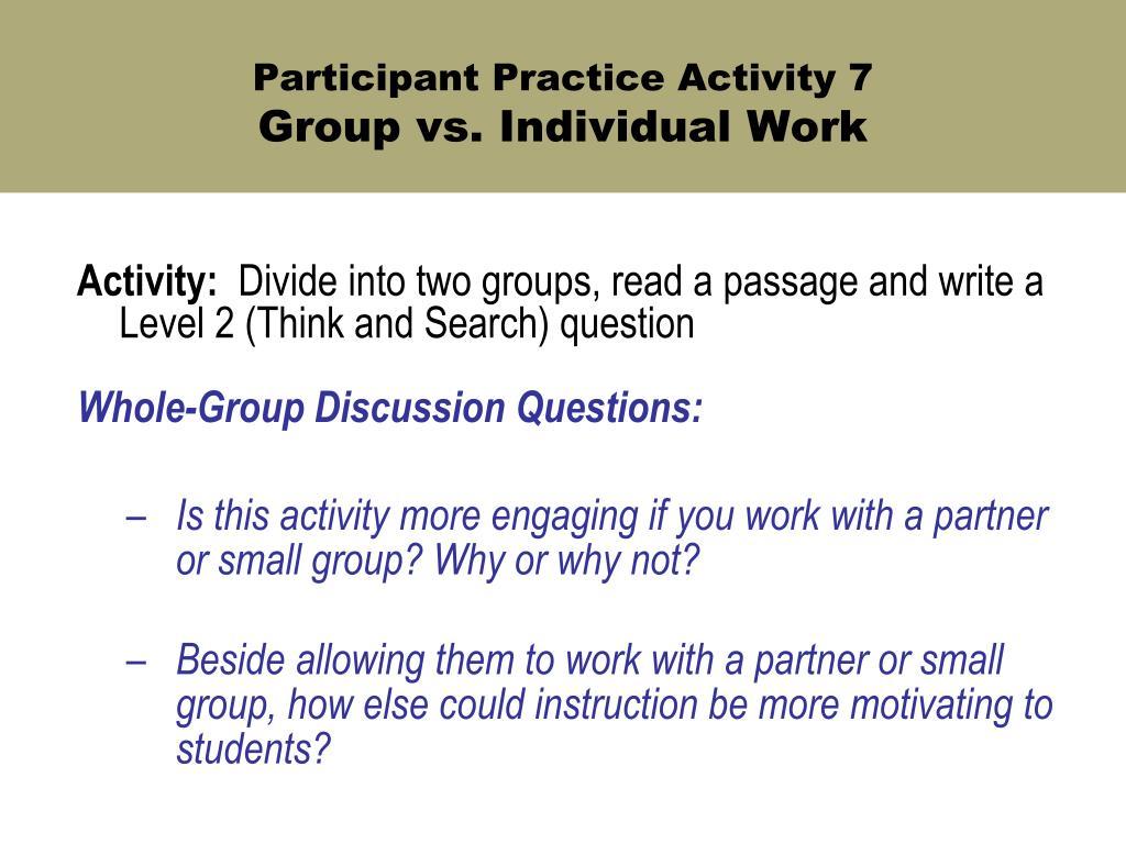 Participant Practice Activity 7