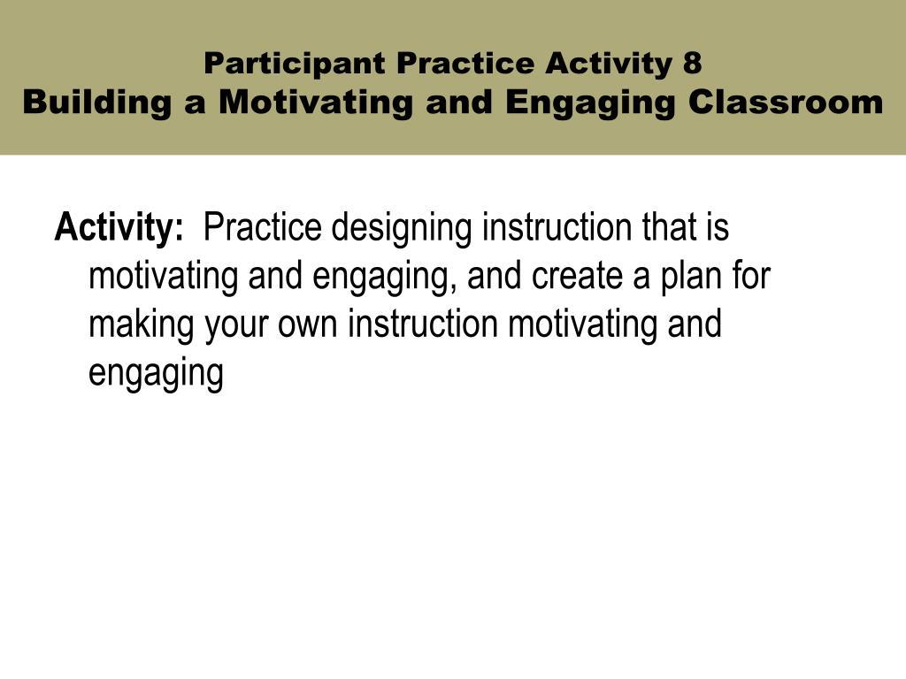 Participant Practice Activity 8