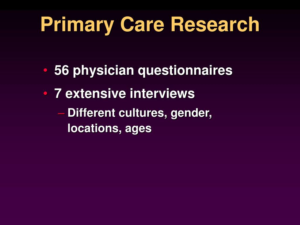 Primary Care Research