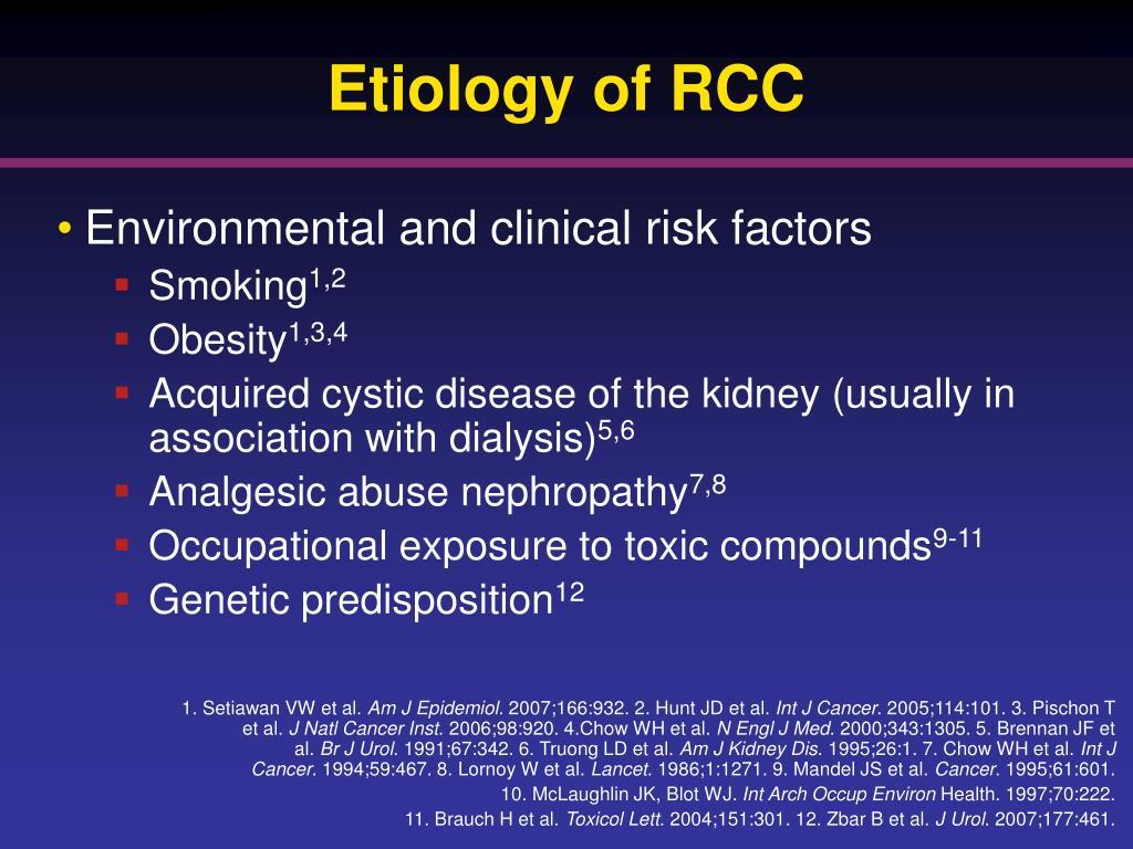 Etiology of RCC