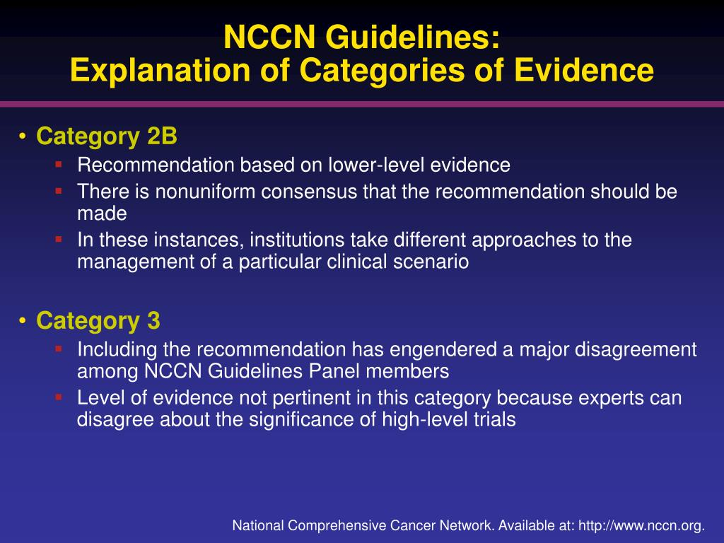 NCCN Guidelines: