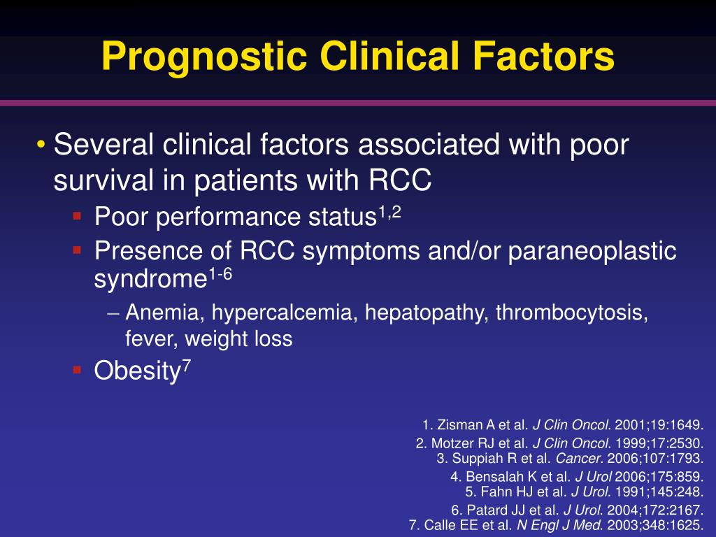 Prognostic Clinical Factors