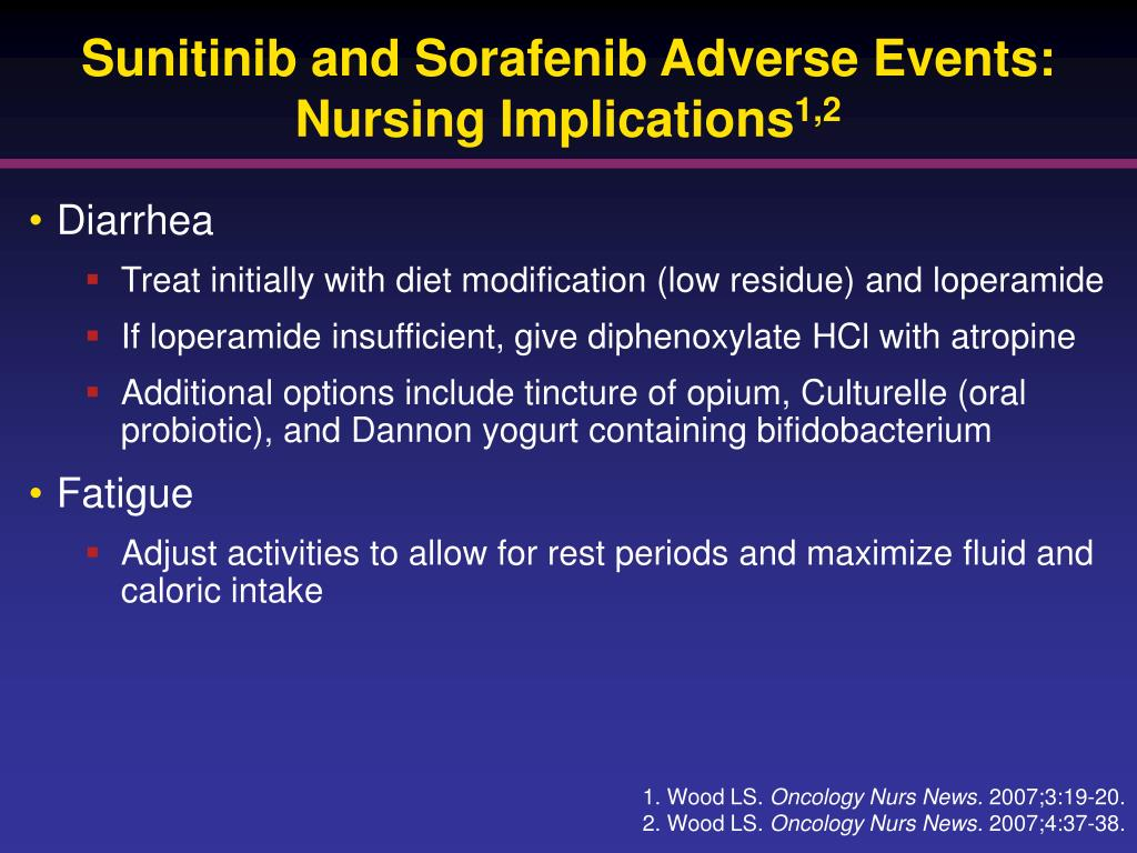 Sunitinib and Sorafenib Adverse Events: