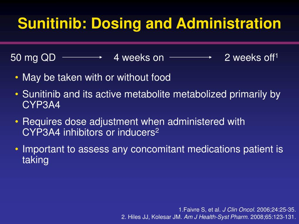 Sunitinib: Dosing and Administration