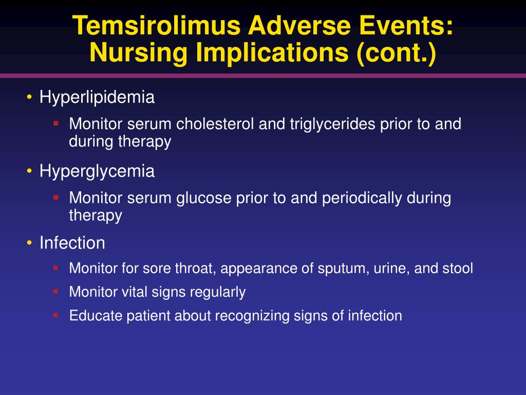 Temsirolimus Adverse Events: