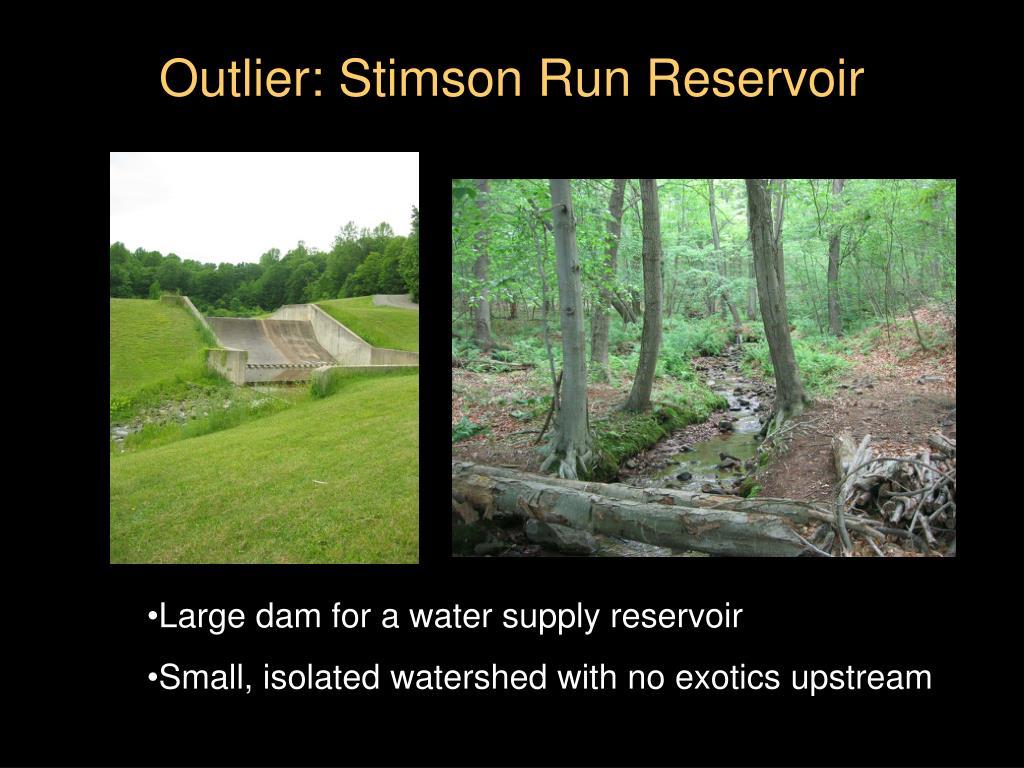 Outlier: Stimson Run Reservoir