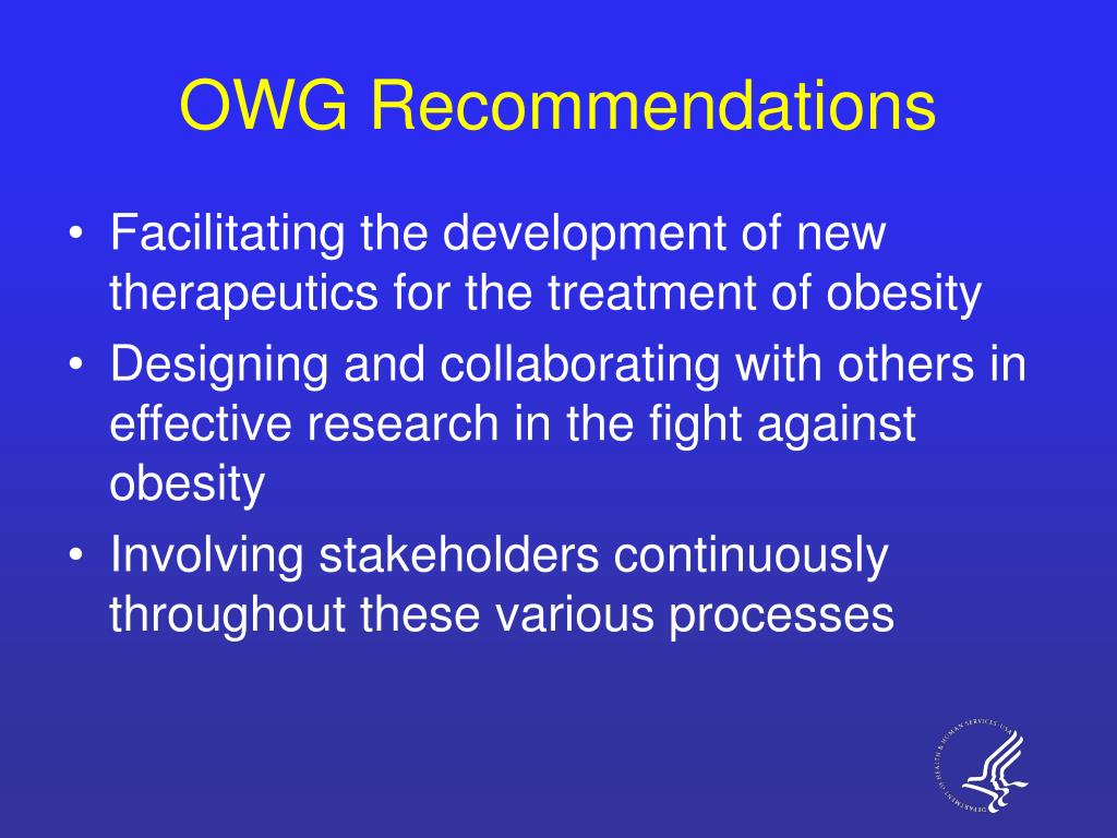 OWG Recommendations