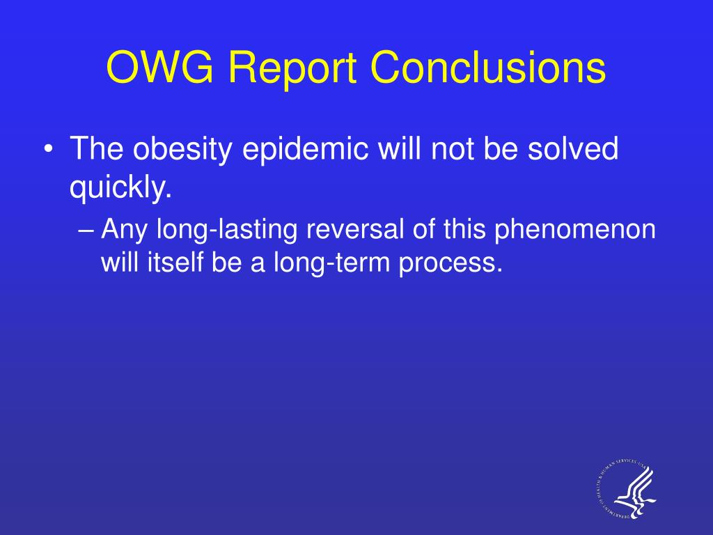 OWG Report Conclusions