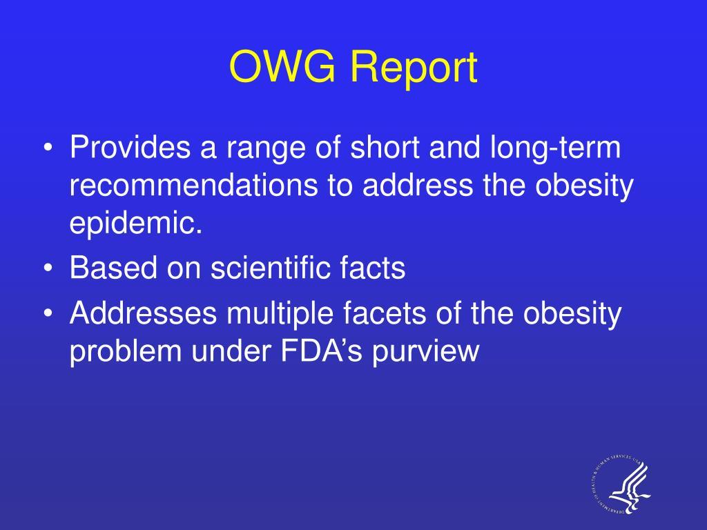 OWG Report