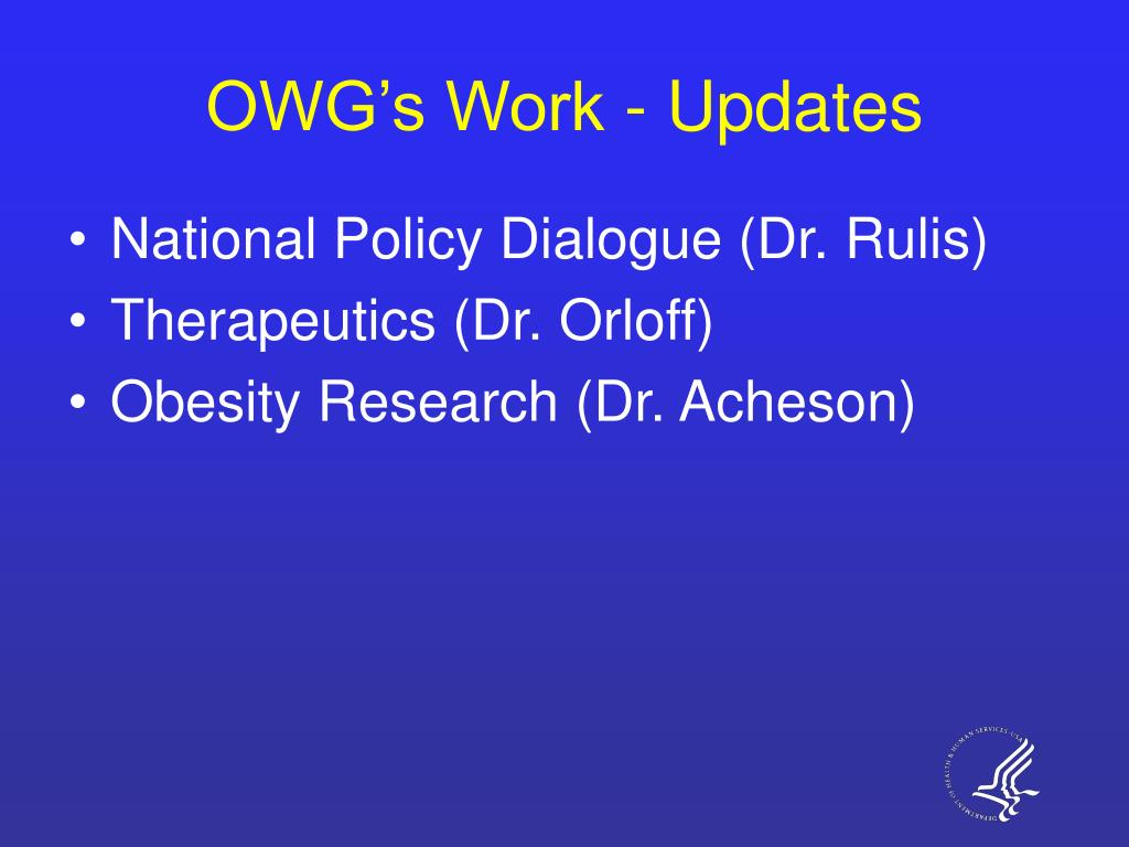OWG's Work - Updates