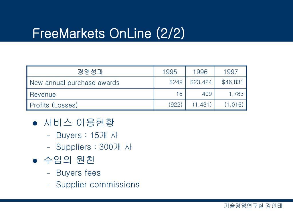 FreeMarkets OnLine (2/2)
