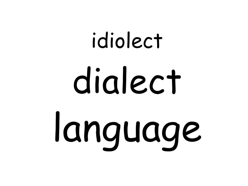 idiolect