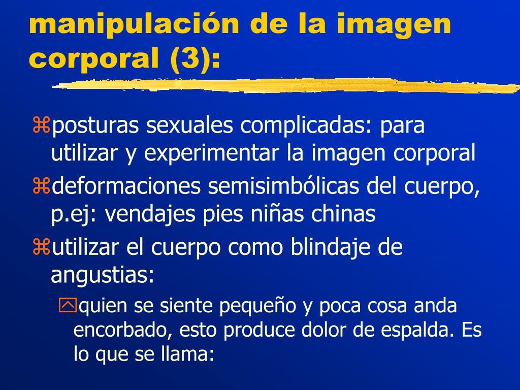 manipulación de la imagen corporal (3):
