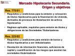 mercado hipotecario secundario origen y objetivos16
