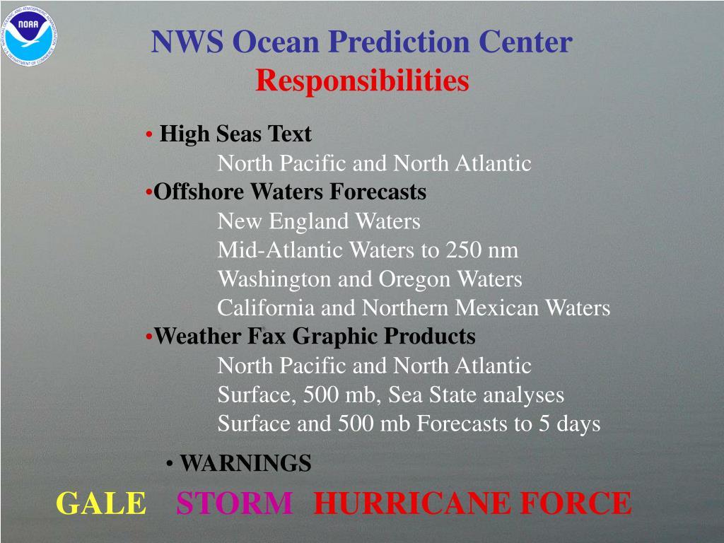 NWS Ocean Prediction Center