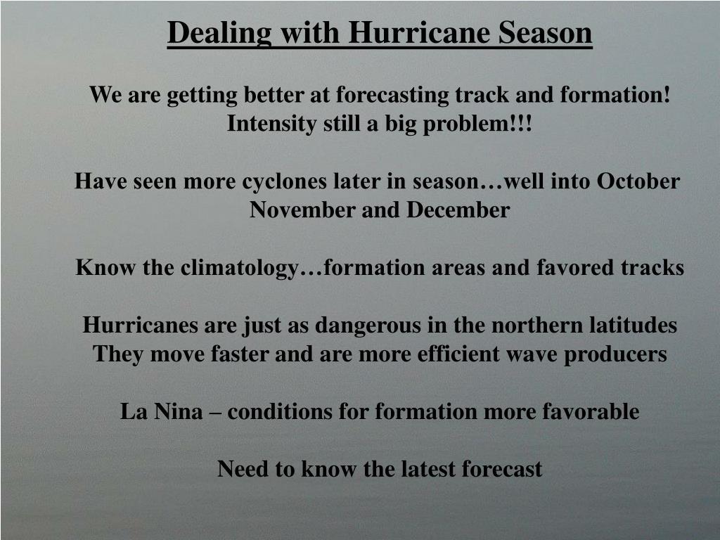 Dealing with Hurricane Season
