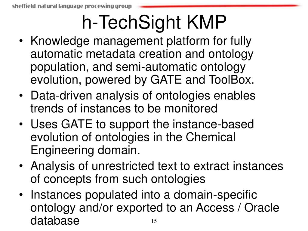 Knowledge management platform for fully automatic metadata creation and ontology population, and semi-automatic ontology evolution, powered by GATE and ToolBox.